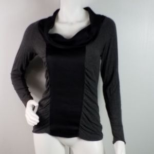 Cache Long Sleeve Stretch Cowl Neck Top Sz S 2442
